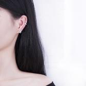 【新飾界】耳環:925純銀耳夾無耳洞女 閃鉆氣質