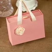 結婚喜糖盒子手提包裝盒抽屜盒回禮盒袋禮盒【步行者戶外生活館】