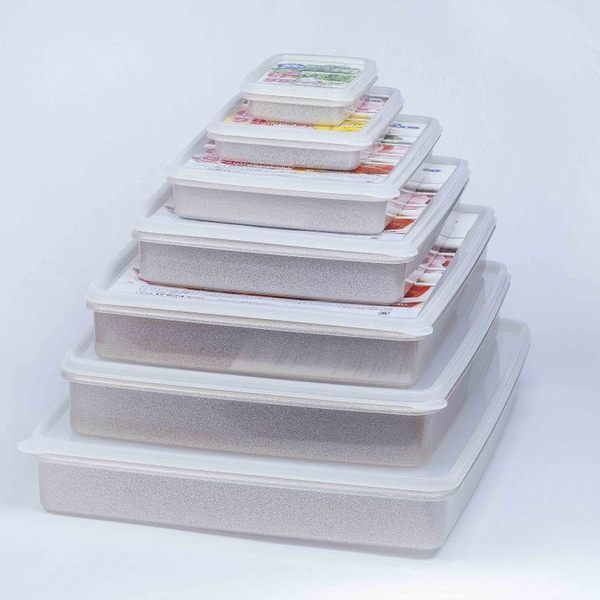日本製mju-func®妙屋房銀纖維銀離子薄型抗菌保鮮盒T2-M20 尺寸: 167mm × 117mm × H28mm  350ml
