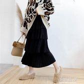 蛋糕裙女2019流行裙子春裝法式中長款高腰很仙的長裙半身裙『小淇嚴選』