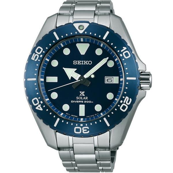 (無卡分期6期)SEIKO Prospex SCUBA 太陽能鈦潛水錶(SBDJ011J)-藍