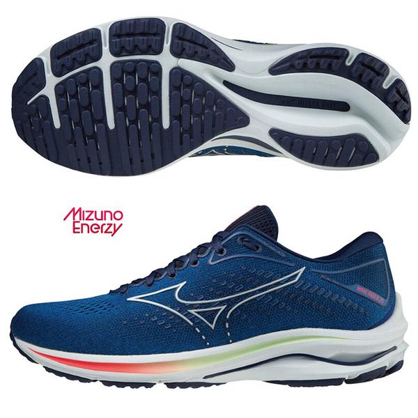 MIZUNO WAVE RIDER 25 男鞋 慢跑 路跑 ENERZY中底 避震 藍【運動世界】J1GC210325