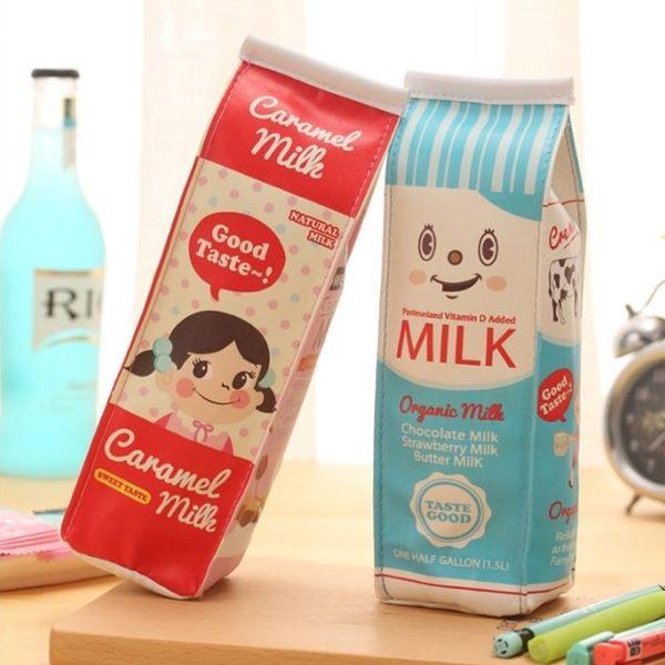 [拉拉百貨]仿真牛奶盒 筆袋 可愛 韓國 創意 大容量 小學生 文具盒 簡約 筆盒