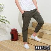 【JEEP】美式休閒縮口長褲-軍綠
