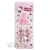 〔小禮堂﹞Hello Kitty 噴霧式空瓶《粉.草莓.吊帶褲》75ml.空罐.分裝瓶罐 5712977-46236