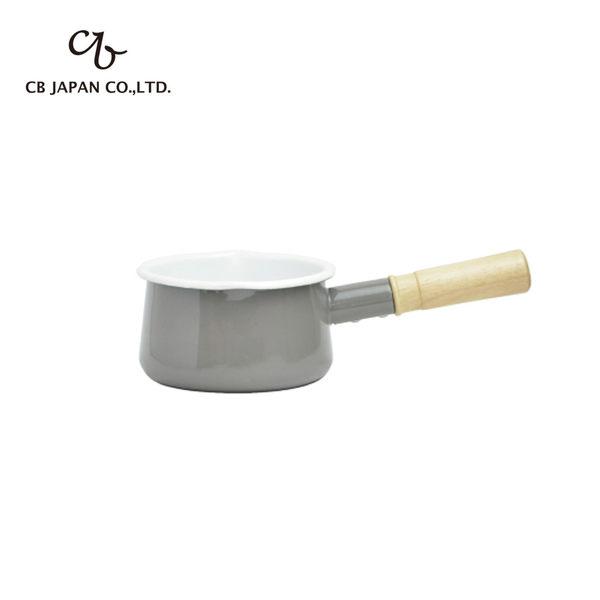 日本 露營 湯鍋 野餐【CB074】CB 都會系列琺瑯原木牛奶鍋  收納專科