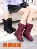天天特價冬季加絨雪地靴防滑中筒靴韓版防水保暖女加厚百搭棉靴子  【PINK Q】