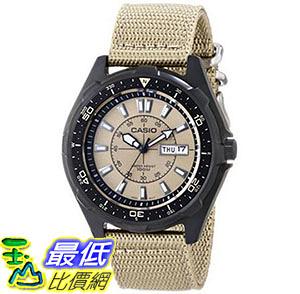 [美國直購] 手錶 Casio Mens AMW110-9AV Classic Analog Tan Nylon Strap Watch