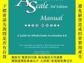 二手書博民逛書店Iowa罕見Acceleration Scale Manual 3rd EditionY307751 Susa