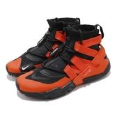 【六折特賣】Nike 武士鞋 Air Huarache Gripp 黑 橘 高筒 襪套式 拉鍊設計 運動鞋 男鞋【PUMP306】 AO1730-001