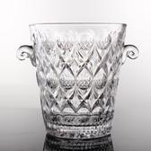 加厚玻璃冰桶無鉛玻璃雙耳冰桶創意冰粒桶紅酒香檳桶玻璃冰桶酒吧 印象家品
