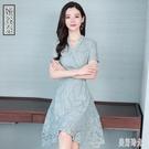 媽媽洋裝有女人味的連身裙夏天2020新款夏季氣質收腰中長蕾絲A字裙子 PA15587『美好时光』