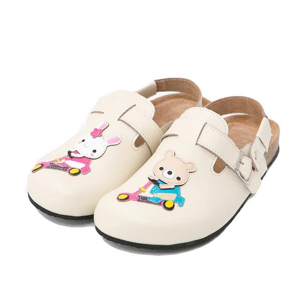 【Jingle】小熊約會前包後空軟木鞋(百搭米大人款)