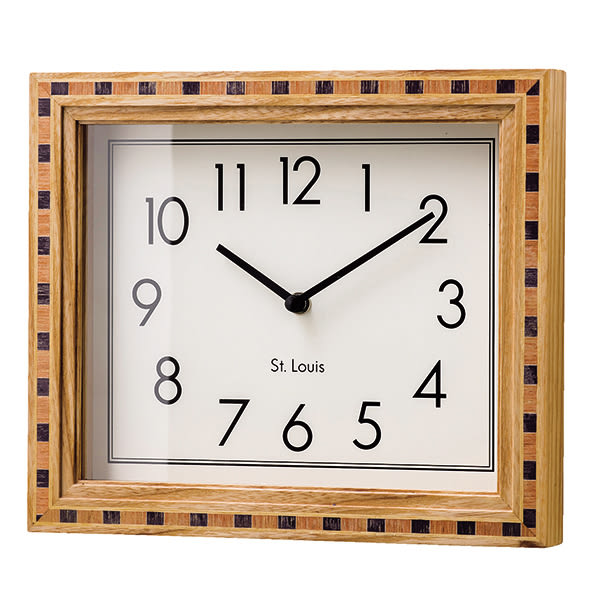 Dunaff- 實木拼花造型掛鐘