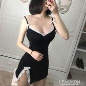 gfm黑色性趣內衣 女士純棉性感吊帶睡裙成人騷 激情免脫情趣睡衣·Ifashion
