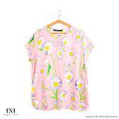 【INI】限量發售、日系無印風格棉麻上衣.粉色