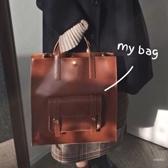 側背包 包包女大容量 多用包 斜挎手提單肩 正韓復古女包簡約百搭【快速出貨】