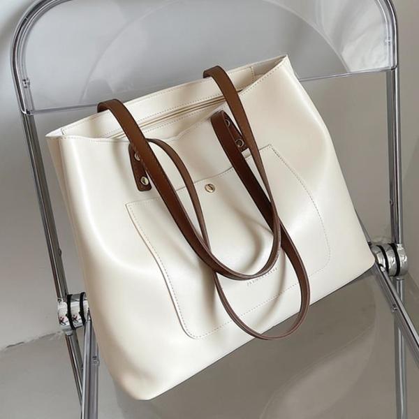 通勤包 大容量包包通勤手提包女時尚小眾單肩包2021新款潮高級百搭托特包
