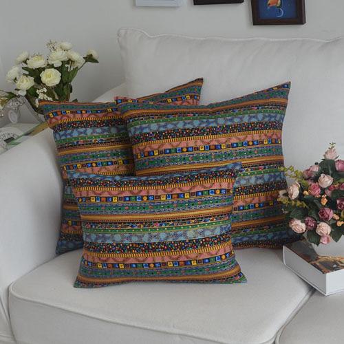 [超豐國際]東南亞異域藍靠墊汽車枕抱枕靠枕 靠墊腰枕套床頭可1入