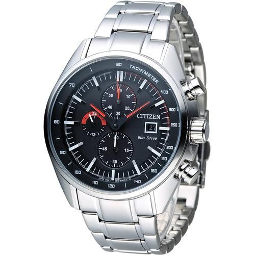 星辰 CITIZEN Eco-Drive 征服極速計時腕錶 CA0590-58E 銀色