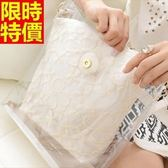 手提果凍包-透明清新蕾絲女防水包68a29[巴黎精品]