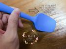 彩色矽膠耐高溫彩色凹槽刮刀烘焙工具(超好...