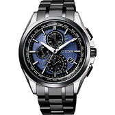 40週年限定款 CITIZEN 光動能40週年限量鈦電波計時錶-藍x黑/42mm AT8044-72L