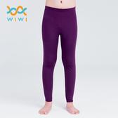 【WIWI】MIT溫灸刷毛九分發熱褲(羅蘭紫 童70-150)