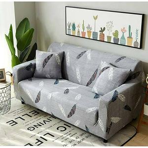 【三房兩廳】真心簡單彈性柔軟沙發套-3人座(淺灰)