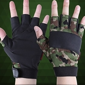 健身手套 半指(可護腕)-時尚迷彩防滑耐磨透氣男運動手套3色71w21【時尚巴黎】