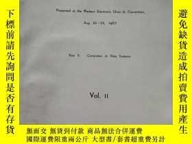 二手書博民逛書店WESCCON 67罕見technical papers vol.ⅡY16555 WESCCON 67 tec