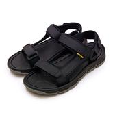 LIKA夢 LOTTO 輕量織帶戶外運動涼鞋 城市輕履系列 黑灰 1670 男