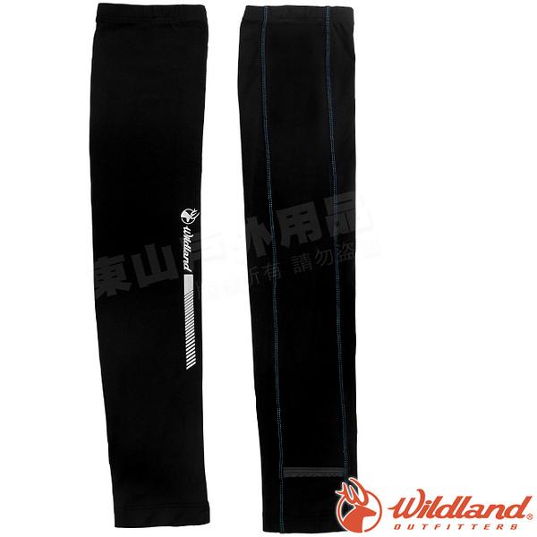 Wildland 荒野 W1810-54黑 中性開洞抗UV透氣袖套 抗UV遮陽手套/快乾機車手套/單車防曬袖套*