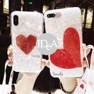 IDEA  iPhone XR 貝殼紋愛心手機殼  簡約 亮面 保護殼 軟殼 全包 吊飾 掛繩 掛脖 吊飾孔 xr