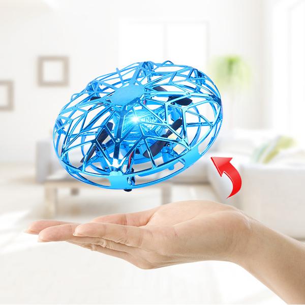 UFO造型! 無人機 遙控 懸浮飛碟 四軸 飛機 飛行器 智能 感應 直升機 玩具 兒童 『無名』 P07101
