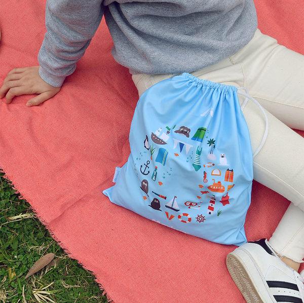 ≡MARIUM≡《多功能鞋袋》可愛世界-淺藍 SB-600434