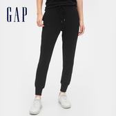 Gap女裝 棉質純色鬆緊休閒褲 544809-純正黑色
