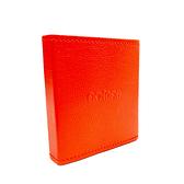 橘色-皮革口罩收納盒 AMINAH~【Mask-03】
