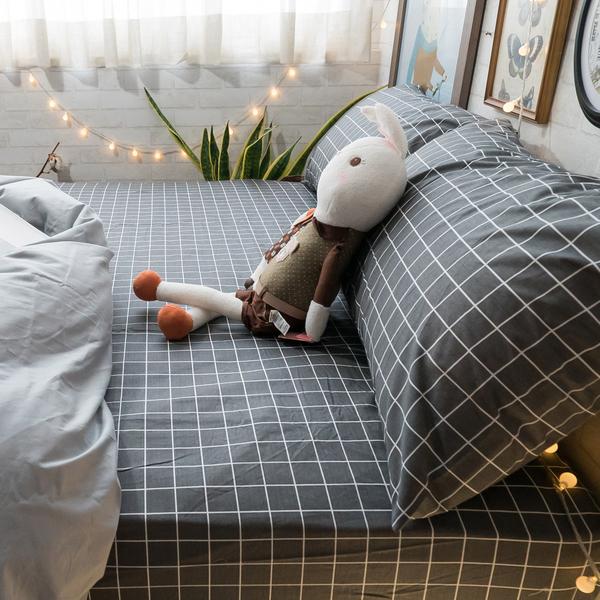英倫灰 S1單人床包二件組 100%精梳棉 台灣製 棉床本舖