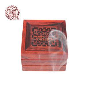紅木多層 紅酸枝 四方薰香 香爐擺件