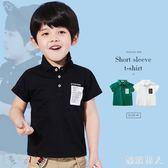 男童夏季短袖Polo衫2018新款T恤衫夏裝兒童休閒上衣 XW1084【極致男人】