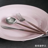 刀叉套裝西餐全套家用歐式勺子三件套西式304不銹鋼可愛牛排餐具 CP293【棉花糖伊人】
