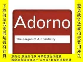 二手書博民逛書店The罕見Jargon Of AuthenticityY255562 Theodor Adorno Routl
