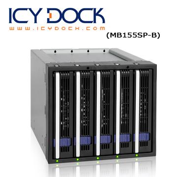 "ICY DOCK 五層式附EZ-Tray 3.5"" SATA HDD 熱插拔 (5轉3) 硬碟背板模組 (MB155SP-B)"
