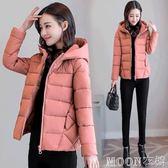 新款韓版冬季天夾棉外套面包服反季棉衣女加厚小棉襖短款輕薄   MOON衣櫥