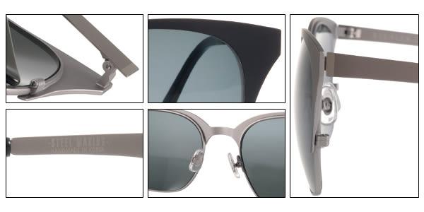 STEALER 太陽眼鏡 DARK NIGHT C10 (藍-銀) 韓系時尚半框款 # 金橘眼鏡