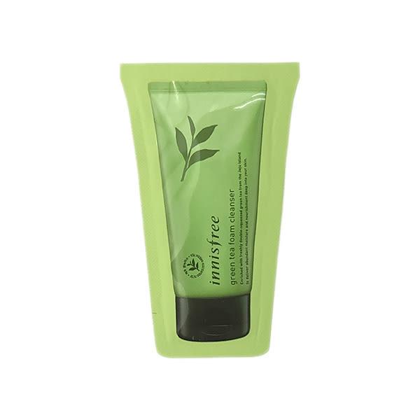 韓國 Innisfree 綠茶清爽泡沫洗面乳(3ml)【小三美日】