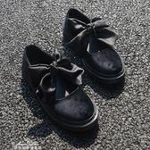 日繫軟妹洛麗塔lolita牛津底休閒娃娃鞋圓頭學生蝴蝶結女單鞋 『夢娜麗莎精品館』