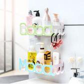 衛生間置物架浴室洗漱臺廁所洗手間吸盤收納架子壁掛LX
