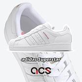 adidas 休閒鞋 V-DAY Superstar 白 紅 情人節 金標 愛心 小白鞋 女鞋 運動鞋【ACS】 FX1203